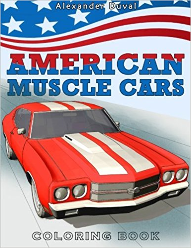 American Muscle Cars Coloring Book – Happy coloring books