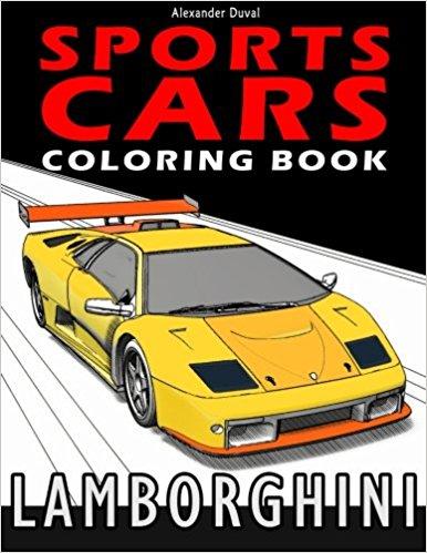 Sport Cars Coloring Book: Lamborghini – Happy coloring books