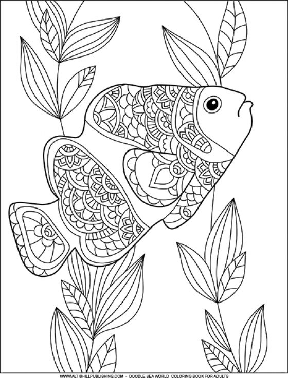 Doodle Sea World Coloring Book For Adults
