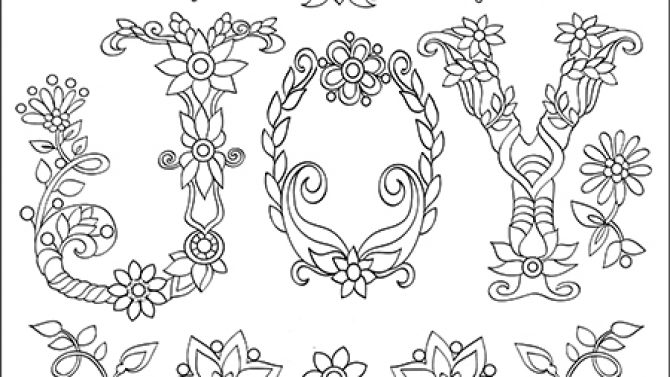 Easy Flowers Coloring Book For Adults White Background