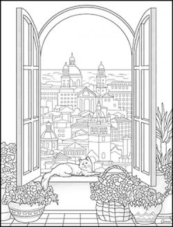 lovely italy coloring book  adults happy coloring books